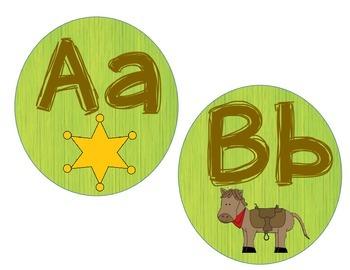Alphabet Cards: Western Themed