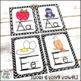 Alphabet Cards (Zaner-Bloser)  Black and White Geometric P