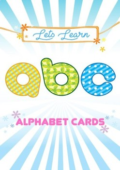 Alphabet Cards, in Postcard size