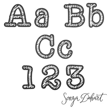 Clip Art: Alphabet - Chalkboard and Chalk Clip Art Letters