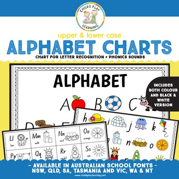 Alphabet Charts Set - Upper and Lower Cases