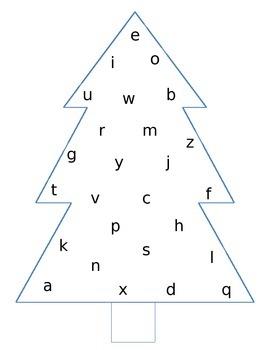 Alphabet Christmas Trees