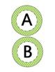 Alphabet Circles Green Moroccan