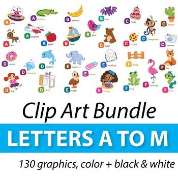 Alphabet Clipart A to M