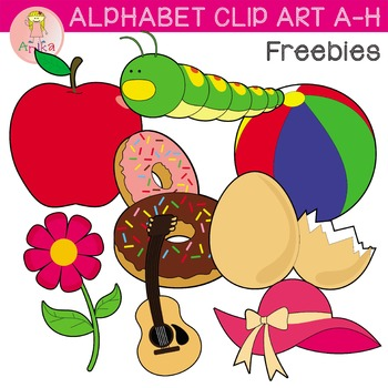 Alphabet Clip Art A-H Freebies