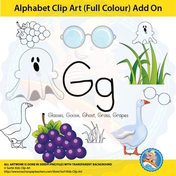 "Alphabet Clip Art   Add on ""Gg"""