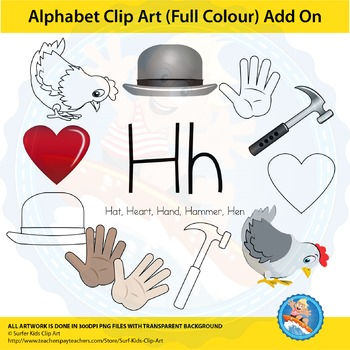 "Alphabet Clip Art | Add on ""Hh"""