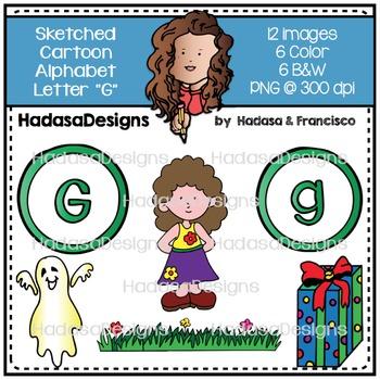 Alphabet Clip Art - Beginning Sounds Letter G