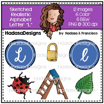 Alphabet Clip Art - Beginning Sounds Letter L
