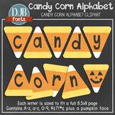 Alphabet Clip Art: Fall Candy Corn Alphabet Letters