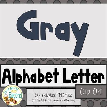 Alphabet Clip Art ~ Dark Gray