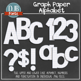 Alphabet Clip Art: Graph Paper Alphabet Letters
