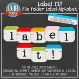 Alphabet Clip Art: File Folder Alphabet Letters