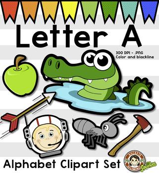 Alphabet Clip Art: Letter A Phonics Clipart Set - Clip Art