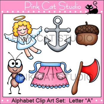 Alphabet Clip Art: Letter A - Phonics Clipart Set - Person