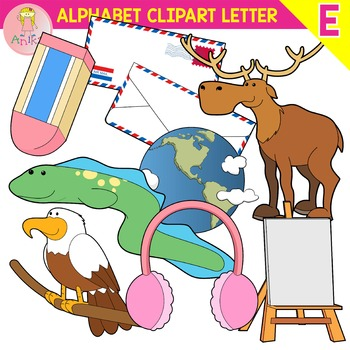 Alphabet Clip Art Letter E-Set