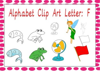 Alphabet Clip Art: Letter F - Phonics Clipart Set - Commer