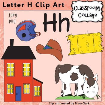 {Alphabet Clip Art Letter H} Items start w letter H {Color