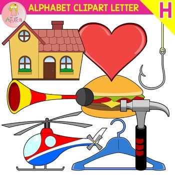 Alphabet Clip Art Letter H-Set