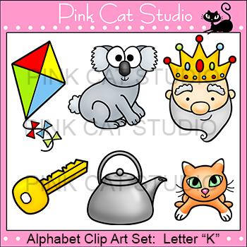 Alphabet Clip Art: Letter K - Phonics Clipart Set - Person