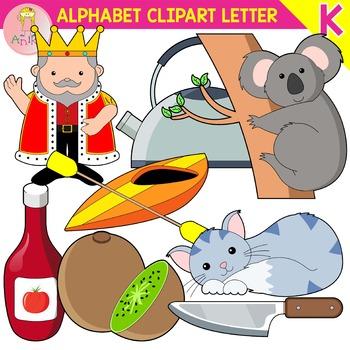 Alphabet Clip Art Letter K-Set