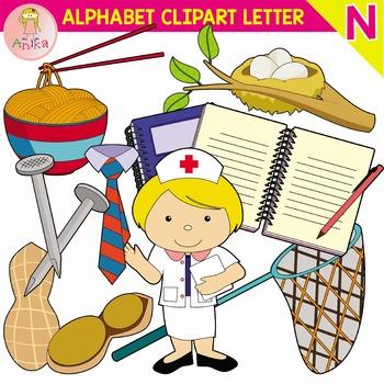 Alphabet Clip Art Letter N-Set