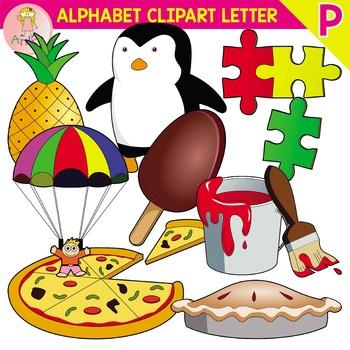 Alphabet Clip Art Letter P-Set