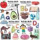 Watercolor Alphabet Clip Art - VALUE BUNDLE