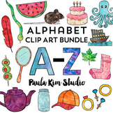 Watercolor Phonics Alphabet Clip Art VALUE BUNDLE