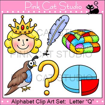 Beginning Sounds Clip Art: Letter Q - Alphabet Clip Art