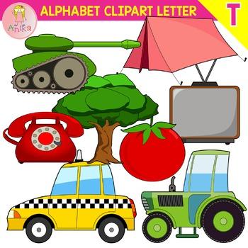 Alphabet Clip Art Letter T-Set