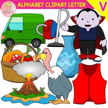 Alphabet Clip Art Letter V-Set