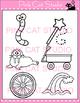 Alphabet Clip Art: Letter W - Phonics Clipart Set - Person