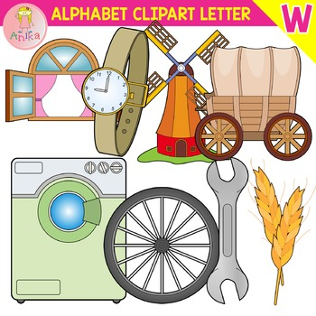 Alphabet Clip Art Letter W-Set
