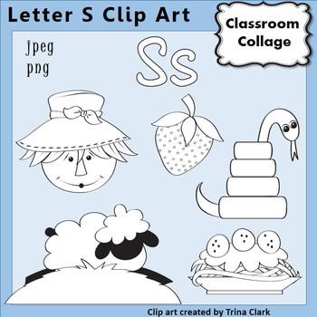 {Alphabet Clip Art Line Drawings} Items start w Letter S {