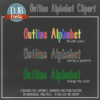 Alphabet Clip Art: Outline Alphabet