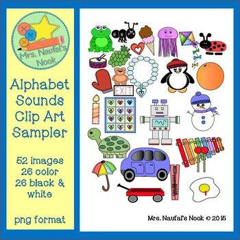 Alphabet Beginning Sounds Clip Art