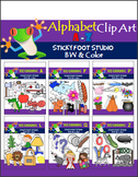 Beginning Sounds Clip Art Bundle - A to Z (358 graphics)