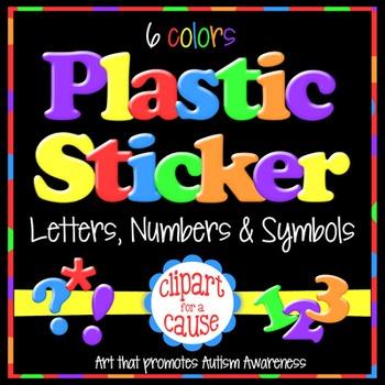 Alphabet Clip Art: VALUE BUNDLE Plastic Sticker Letters Nu