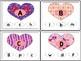 Valentine Clip Cards (Alphabet)