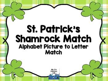 Alphabet Clip It (Shamrocks)