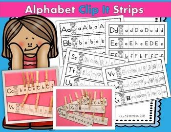 Alphabet Clip It Strips (Letter Sounds and Letter Discrimi