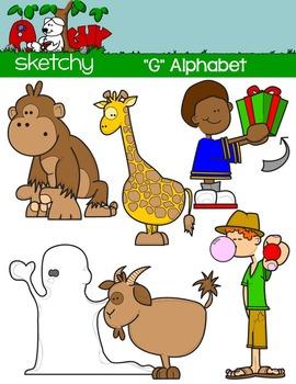 """Alphabet Clipart Letter """"G"""" Graphic - Clip art"""