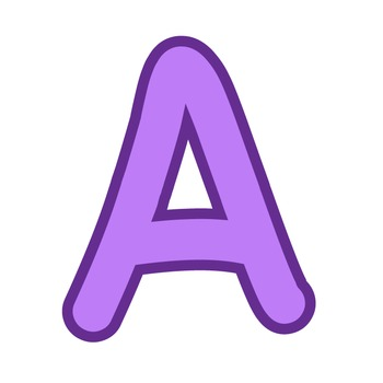 Alphabet Clipart - Purple with Purple Trim