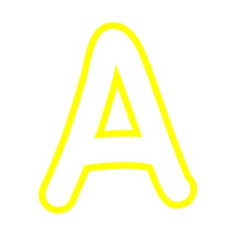 Alphabet Clipart - White with Yellow Trim