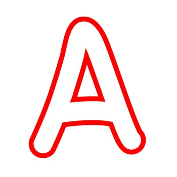 Alphabet Clipart - White with Red Trim