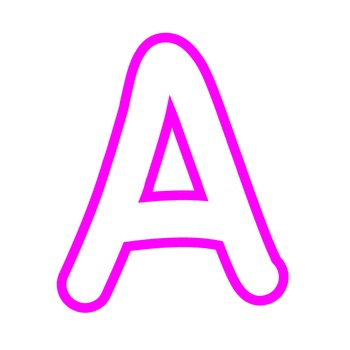Alphabet Clipart - White with Magenta Trim