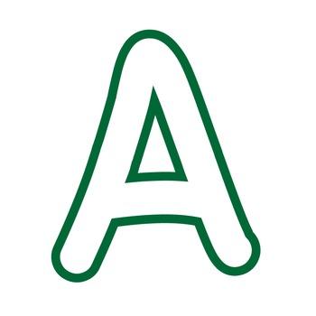 Alphabet Clipart - White with Green Trim