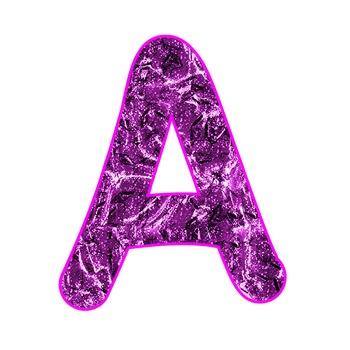 Alphabet Clipart - Pink Liquid Metal