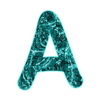 Alphabet Clipart - Aqua Liquid Metal